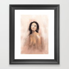 Radiant eye - ipad painting Framed Art Print