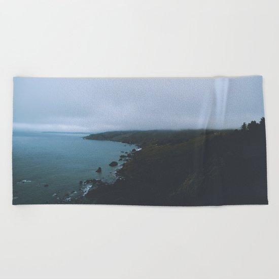 Moody landscape II Beach Towel