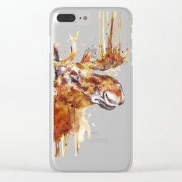 Moose Head Clear iPhone Case