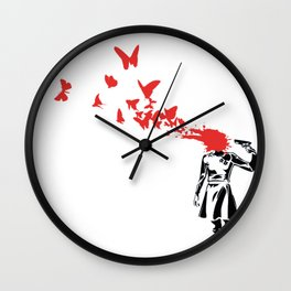 Butterfly HeadShoot Wall Clock