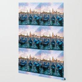 Gondolas in Venice Wallpaper
