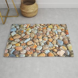 Neutrals with a Splash of Color Rug
