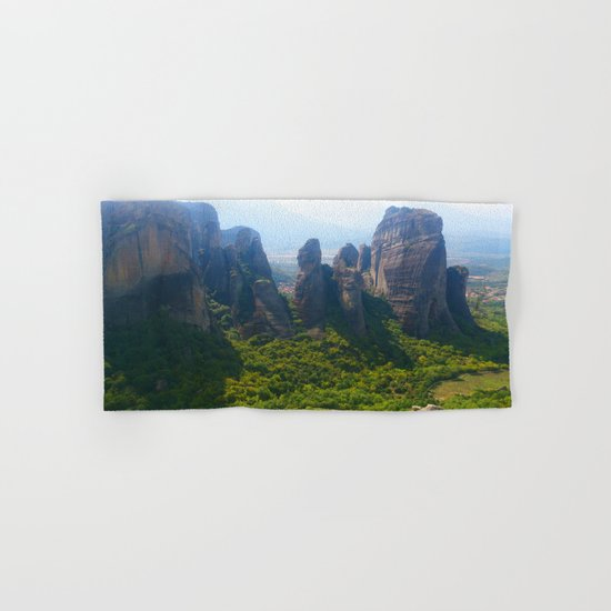 Meditation up to Meteora | Greece | Nature Hand & Bath Towel