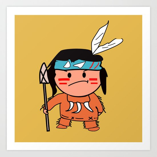 Little Red Indian Art Print