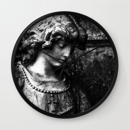 Mourning in Stone Wall Clock