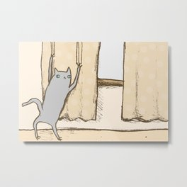 Cat Approval Metal Print