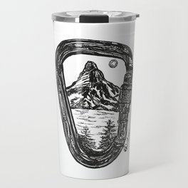 """Climbing Is Life"" Hand-Drawn by Dark Mountain Arts Travel Mug"
