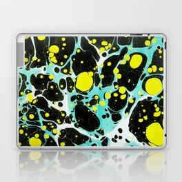 Space Blue Marbling Laptop & iPad Skin