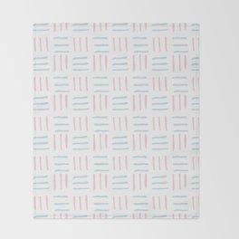 Modern hand painted blush pink teal brushstokes pattern Throw Blanket