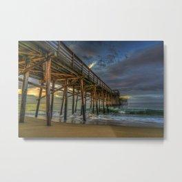 Balboa Pier Sunrise Metal Print