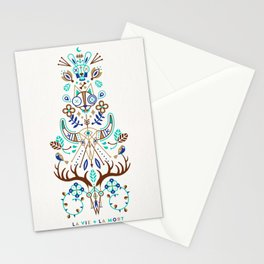 La Vie & La Mort – Turquoise and Brown Stationery Cards