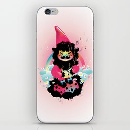 Whistling gnome iPhone Skin