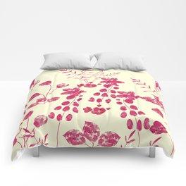 Watercolor floral garden  II Comforters