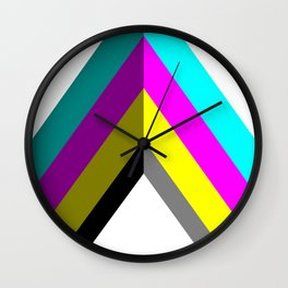 CMYK Vector Shape Wall Clock
