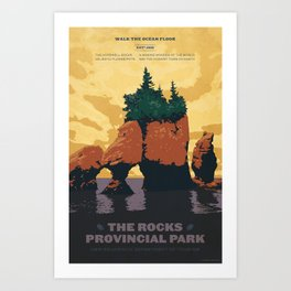 Hopewell Rocks Poster Art Print