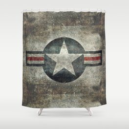 Stylized US Air force Roundel Shower Curtain