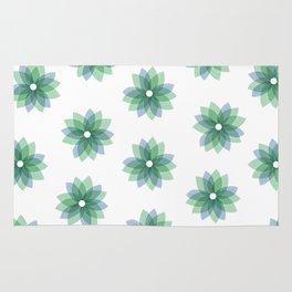 Geo Spring Flowers 01 Rug