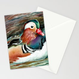 Watercolor Duck Painting Stationery Cards