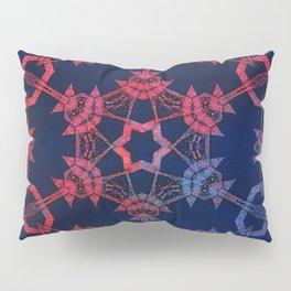 Blue and red glow tribal mandala Pillow Sham