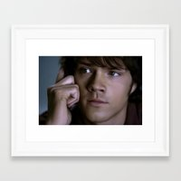 sam winchester Framed Art Prints featuring Sam Winchester by Kaye Pyle