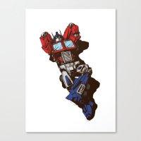 optimus prime Canvas Prints featuring Optimus  by Sergey Yaroshenko