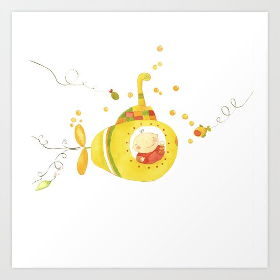 Baby's yellow submarine Art Print