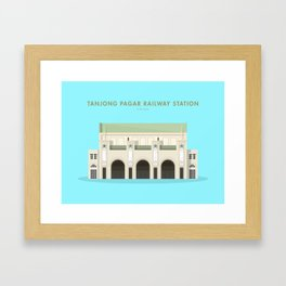 Tanjong Pagar Railway Station, Singapore [Building Singapore] Framed Art Print