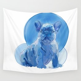 Monochromatic French Bulldog Wall Tapestry