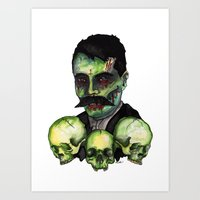Zombie Emilliano  Art Print