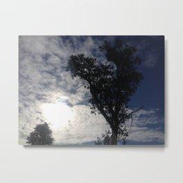 Clouded sun heart tree Metal Print