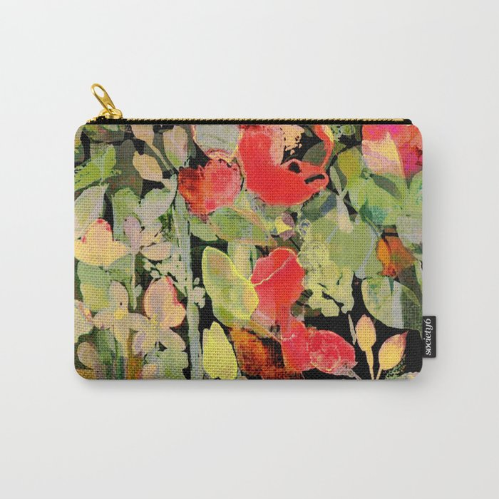 vivid abstract flowers Carry-All Pouch