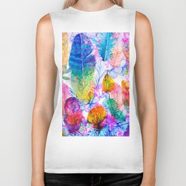 spring feathers Biker Tank