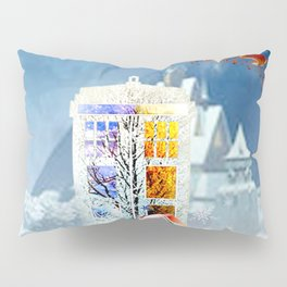 Tardis Christmas Pillow Sham