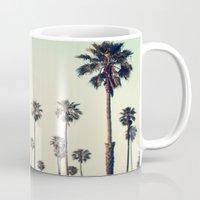 california Mugs featuring California  by Bree Madden