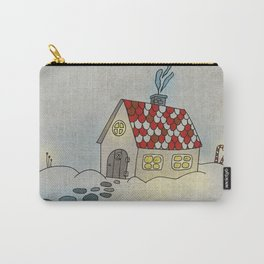 Winter Evening in Tiny Gingerbread House Carry-All Pouch