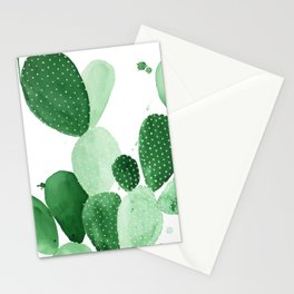 Green Paddle Cactus II Stationery Cards