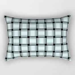 Light Cyan Weave Rectangular Pillow