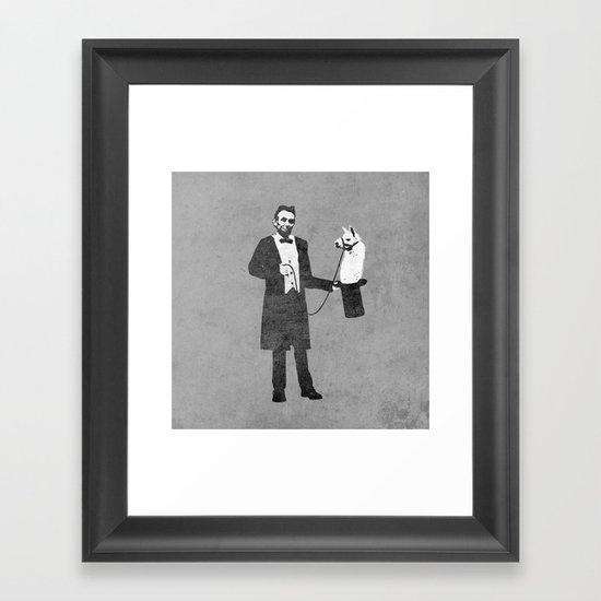 Lincoln's Llama Trick Framed Art Print