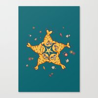 starfish Canvas Prints featuring StarFish by Lili Batista