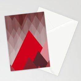 Triangular Mountain Range Stationery Cards