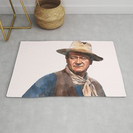 John Wayne - The Duke - Watercolor Rug