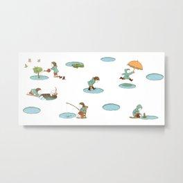 puddles Metal Print