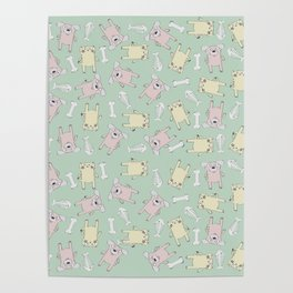 Raining Cats and Dogs (Patterns Please) Poster