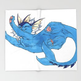 Vaporeon Throw Blanket