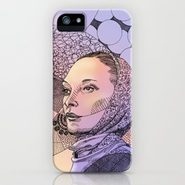 Gypsy lady with scarf (sunset) iPhone Case
