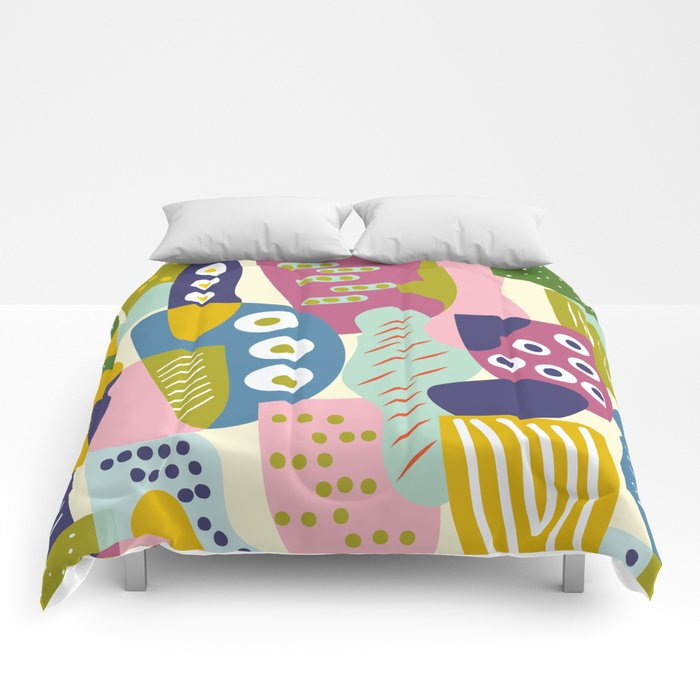 Colourful print Comforters