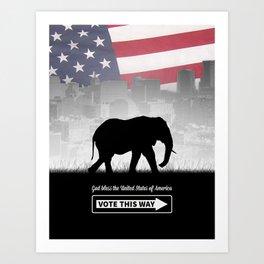 Vote This Way Art Print