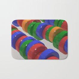 Colorful cylinders Bath Mat