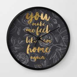 LIVELONG BLACK & GOLD Wall Clock