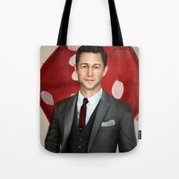 inception Tote Bags featuring Inception - Arthur by Mel Hampson